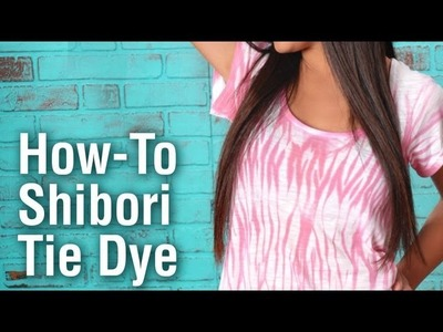 How-To Shibori Tie Dye Technique