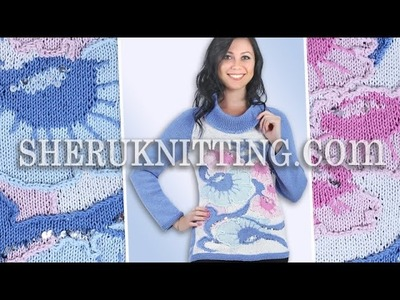 Knitting Floral Sweater Model 18  Knitting Jacquard Pattern