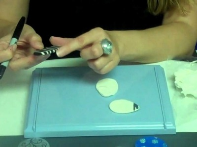Making a Zebra Pendant with Lightweight Air Dry Clay - FREE IDEA FROM SUNSHINE CRAFTS