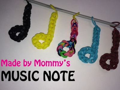 Music Half Note Charm without the Rainbow Loom