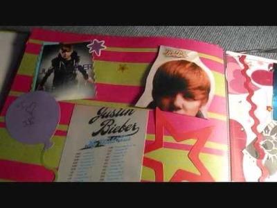 My Justin Bieber Homemade Concert Scrapbook!