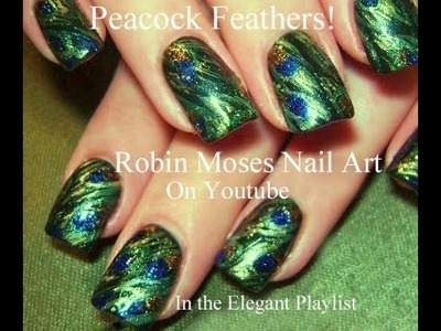 Nail Art Tutorial | DIY Peacock Feather Nails | Abstract Green nail design
