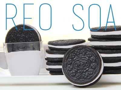 Oreo Soap Tutorial - How To Make Oreo Cookie (Food) Soap