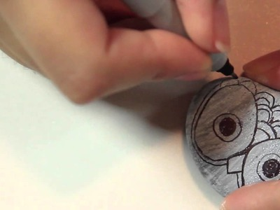 Owl Paper weight rocks - ♥ DIY