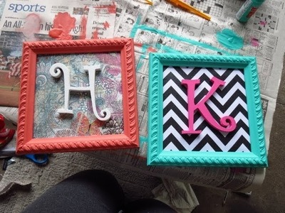 Pinterest Inspired Initial Picture Frames