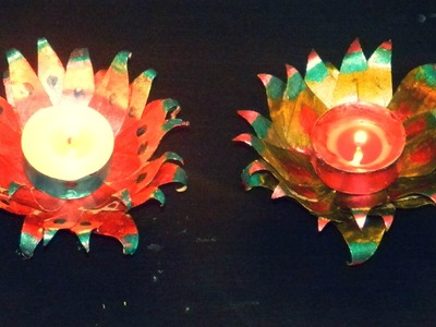 Recycled DIY: Candle decoration with tissue paper holder just in 5 minutes