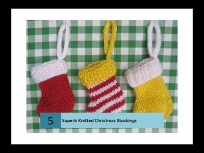 Superb Knitted Christmas Stockings