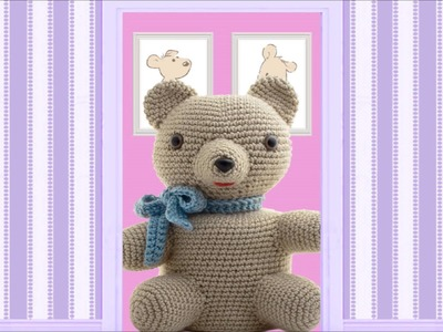 Teddy Bear ~ Amigurumi Crocheted Toilet Paper Cover