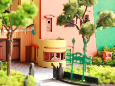 The amazing papercraft model from the Ghibli Museum — see the museum in intricate miniature detail!
