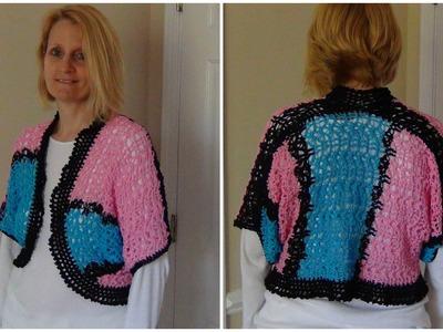 Tunisian Lacy Crochet Top Part 1