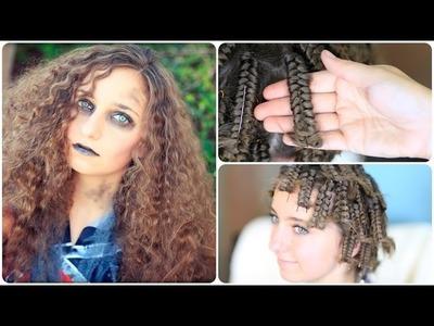 Zombie Cheerleader | Hair Pin Curls | Halloween Hairstyles