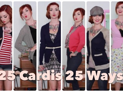 25 Cardigans 25 Ways! How to style yourself vintage by CHERRY DOLLFACE