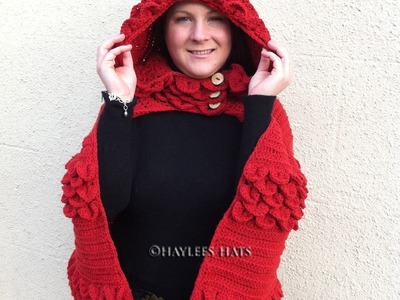 Adult Cape, head scarf, infinity scarf , lady bug set |Fresh off tha hook | Haylees Hats