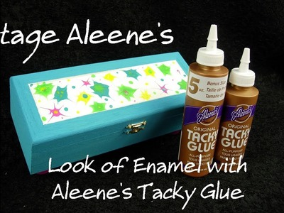 Aleene's Vintage Look of Enamel with Aleene's Tacky Glue and Paint