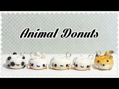 Cat, Bunny, Panda and Fox donut | Polymer Clay Tutorial