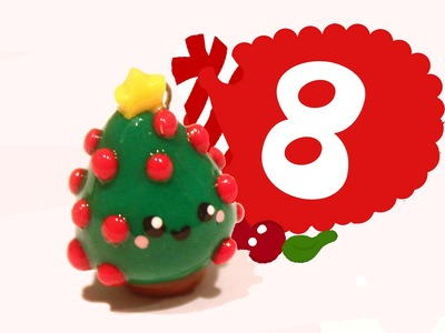 ❤ Christmas Tree! Kawaii Christmas 8 -Polymer Clay tutorial
