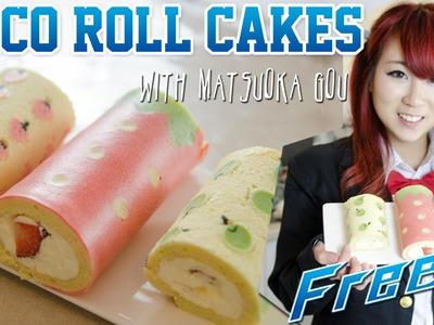 Cute Deco Roll Cake ft. Kim Dao - Kao's Kosplay Kitchen!