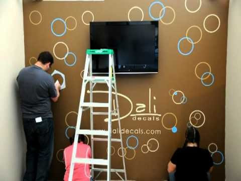 Dali Wall Decals - Circles and Bubbles Installation