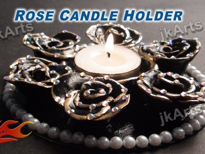 DIY How to make Rose Candle Holder from MSeal - JK Arts 323