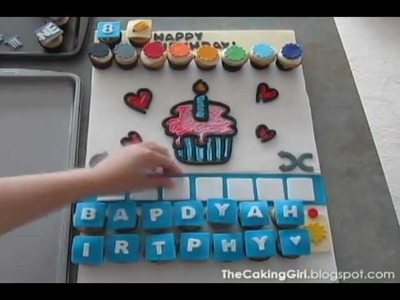 DRAW SOMETHING FACEBOOK GAME, Cupcakes! Time Lapse Cake Video