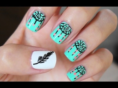 Easy Dreamcatcher Nail Art