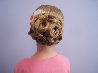 Easy Looped Updo | Bridal, Prom, Flower Girl Hairstyle