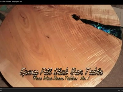 Glass Fill Epoxy Top Table Part One: Prepping the slab