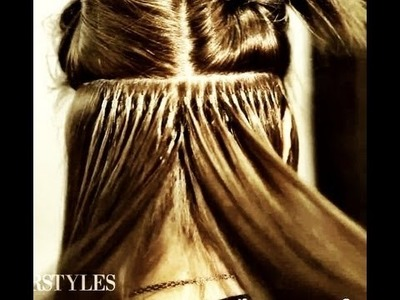 Hair extension technique High tips, Linkies, MicroRings, and MicroLinks