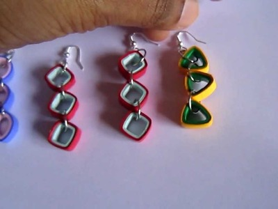 Handmade Jewelry - Paper Quilling Hanging (Square, Triangle, Teardrop)