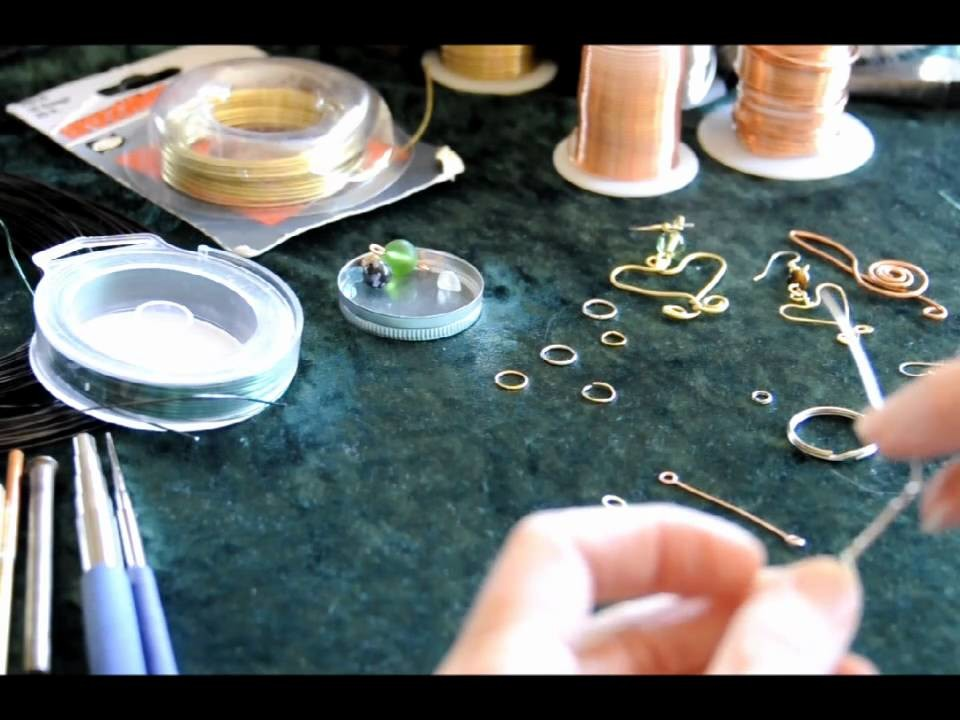 HOW TO BEGIN BASIC WIRE WRAPPING AND JEWELRY MAKING  #2,