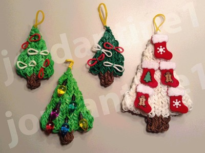 How To Make A Rainbow Loom Decorated Holiday Christmas Tree Charm - Part 2
