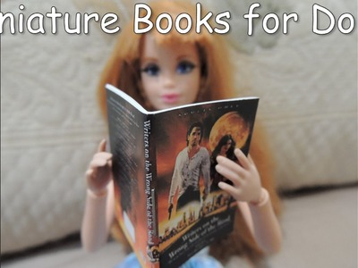 How to Make Amazing Miniature Barbie Doll Books Tutorial