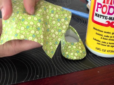 How To Make No Sew Custom Doll Shoes