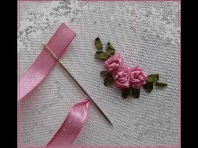 How To Make  Ribbon Rose-Ribbon Technique