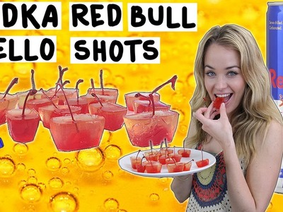 How to make Vodka Red Bull Jello Shots - Tipsy Bartender