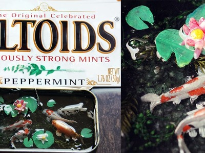 HOW TO: Polymer Clay Koi Pond (ALTOID Tin)