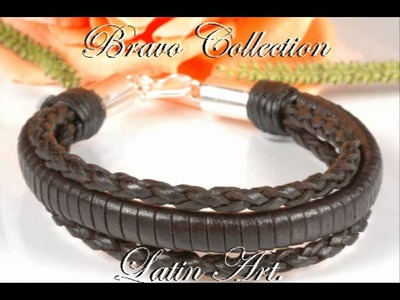 Kangaroo Leather Bracelet Solid Sterling Silver B-230