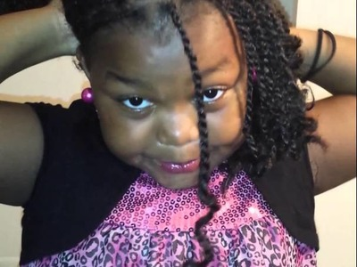 Kinky twist hairstyle for kids