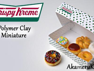 Krispy Kreme Donuts inspired miniature - Polymer Clay Tutorial