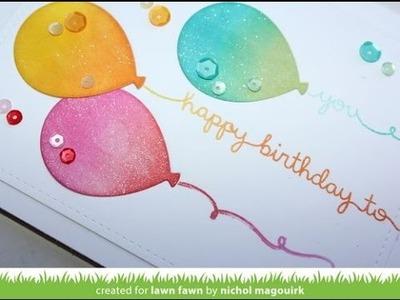Lawn Fawn   Balloon Inlay Card