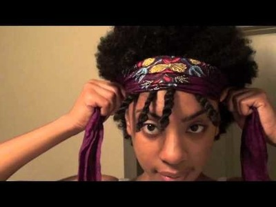 Mae's Twist-Out Bang Natural Hair Style