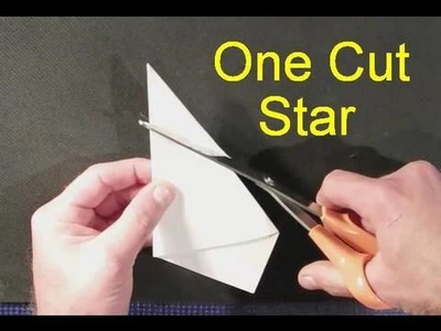 Make a perfect star with ONE cut!