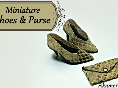 Miniature Shoes & Purse - Polymer Clay.Fabric tutorial