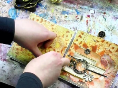 Mixedmedia tutorial - mixedmedia card with Scraps of Darkness Kit