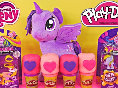 My Little Pony Fashems Twilight Sparkle and Rainbow Dash + 4 MLP Play Doh Eggs Playdoh Playdough