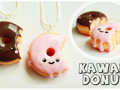 Polymer clay Kawaii Donut.Doughnut TUTORIAL
