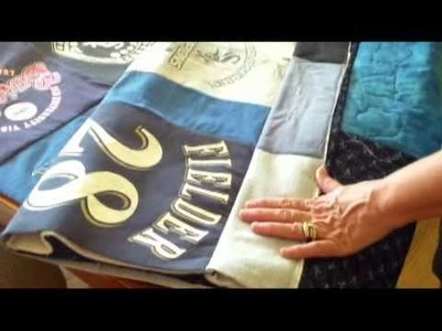 Quilt as you go T-shirt quilt