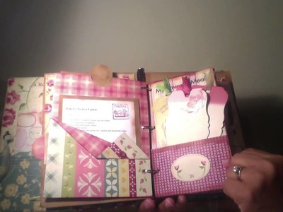 Recipe mini album using altered 3 ring binder