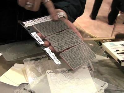 Scrap Time - Tim Holtz shows techniques using his Texture Fades