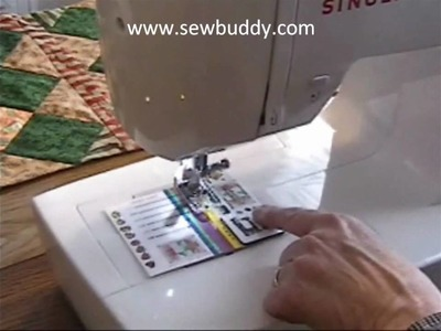 Sewing straight seams with the
